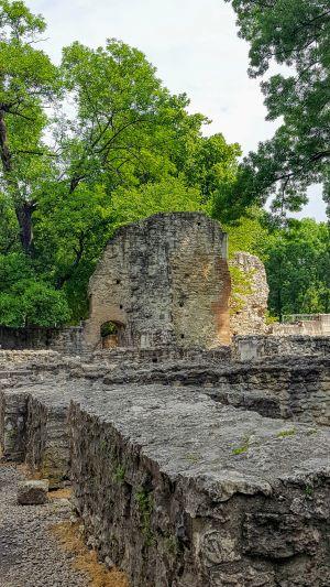 Medieval ruins on Margaret Island, Budapest, Hungary