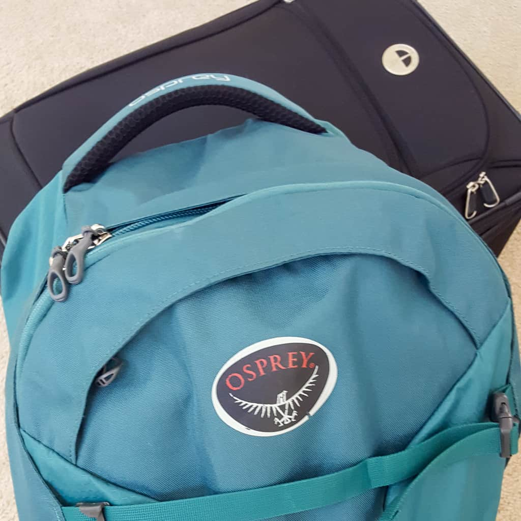 green osprey fairpoint 40 travel backpack black travelpro walkabout suitcase