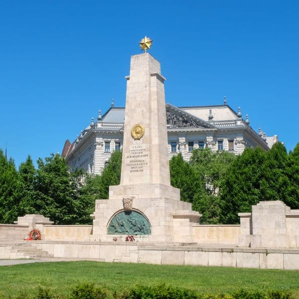 Soviet War Memorial in Liberty Square, Budapest Hungary