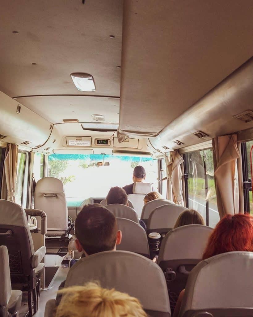 New Zealand Stray tour bus interior