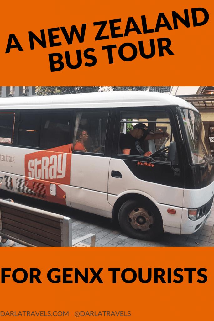 Stray Travel bus, GenX bus tour, North Island, Auckland, NZ