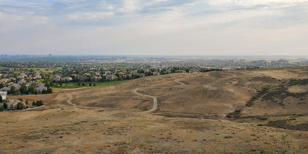 Bluffs Regional Park, view to the northeast, Lone Tree, plains, Douglas County Colorado landscape
