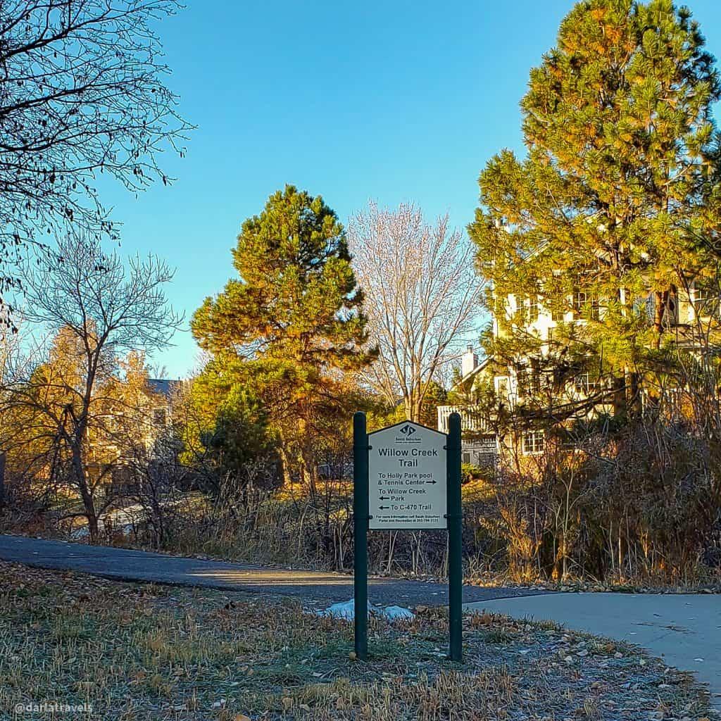 Willow Creek Trail, Centennial, Colorado, fall morning