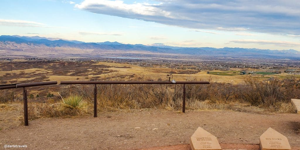 View to the west from Highlands Point on the East/West Regional Trail in Douglas County Colorado