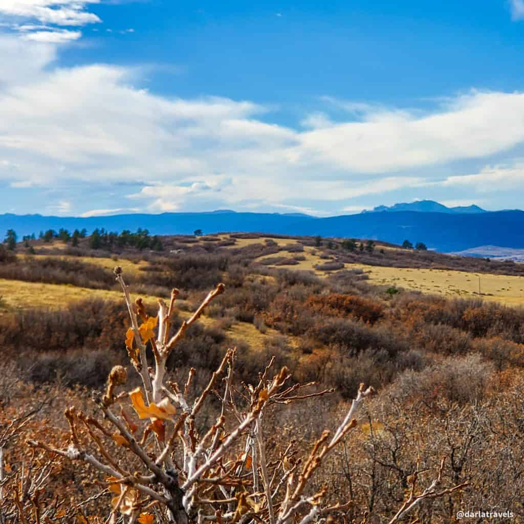 View to the southwest from the East/West Regional Trail in Douglas County, Colorado