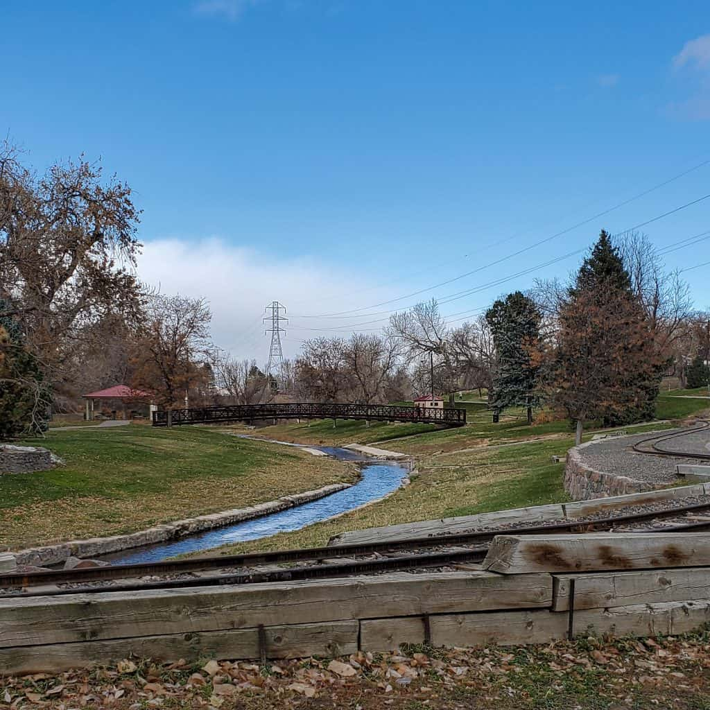 Belleview Park, Englewood, Colorado, train tracks, Big Dry Creek