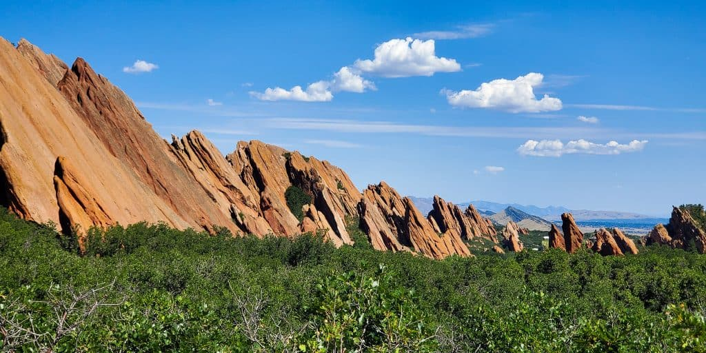 Red rock formations at Roxborough State Park, Colorado