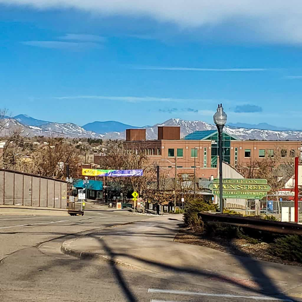 View of Littleton Main Street Historic District from the Littleton Community Trail