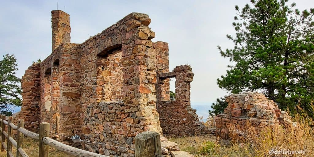 Stone ruins of John B. Walker's home in Mount Falcon Park