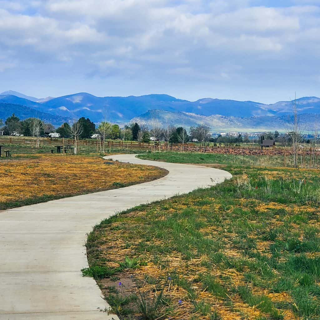 Plum Creek day use area in Chatfield State Park from the Chatfield Internal Trail