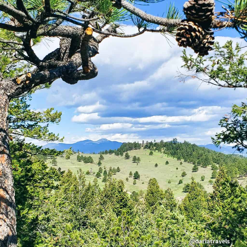 View from the Devil's Elbow Trail in Mount Falcon Park, Jefferson County, Colorado