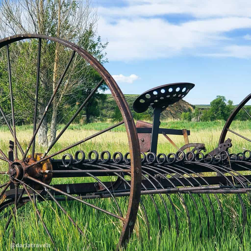 Old farm equipment at Yampa River State Park