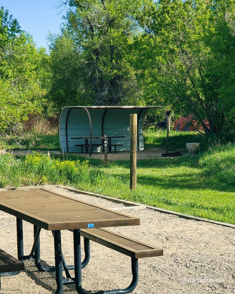 tent campsites at Yampa River State Park