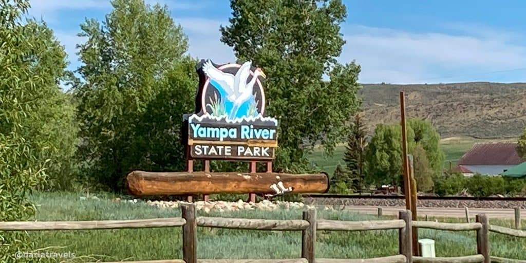 Entrance sign at Yampa River State Park