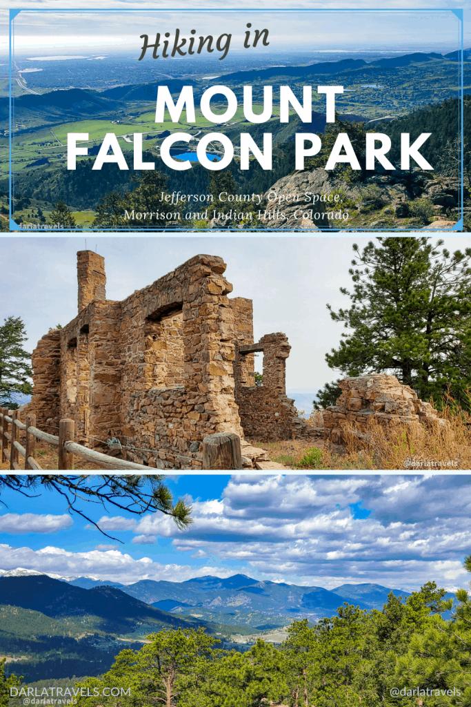 pinterest image for Mount Falcon Park, Jefferson County Colorado