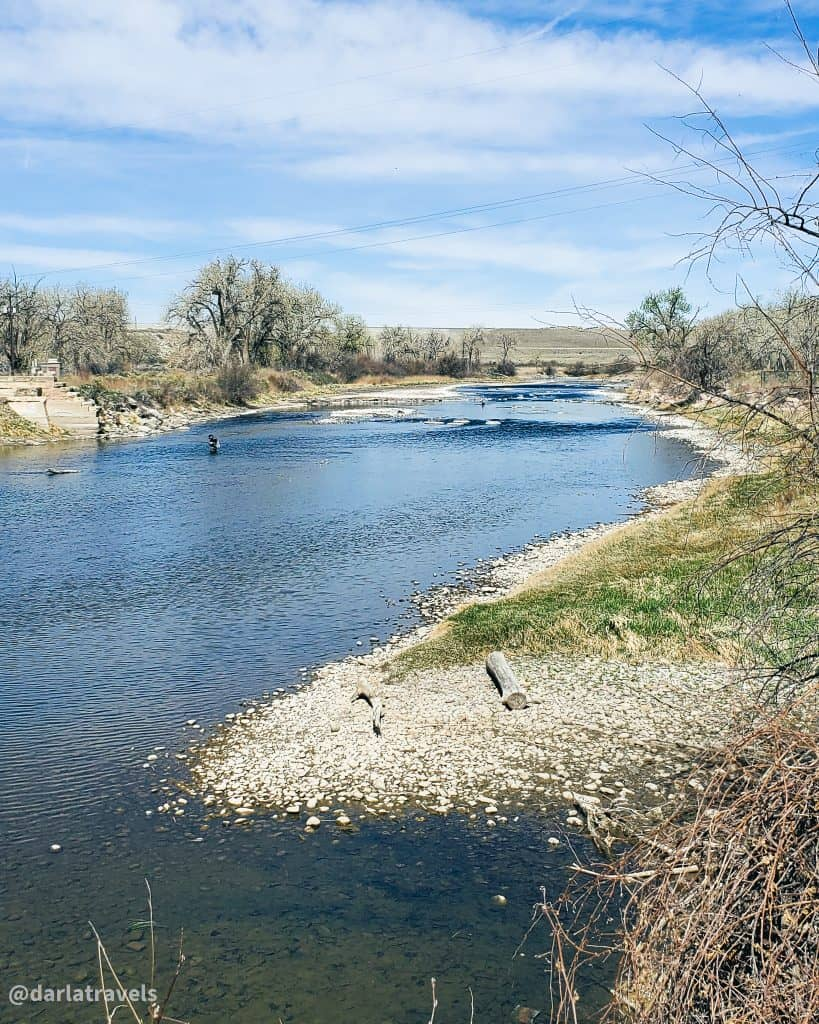 The Arkansas River near Lake Pueblo State Park, as seen from the Arkansas River Trail