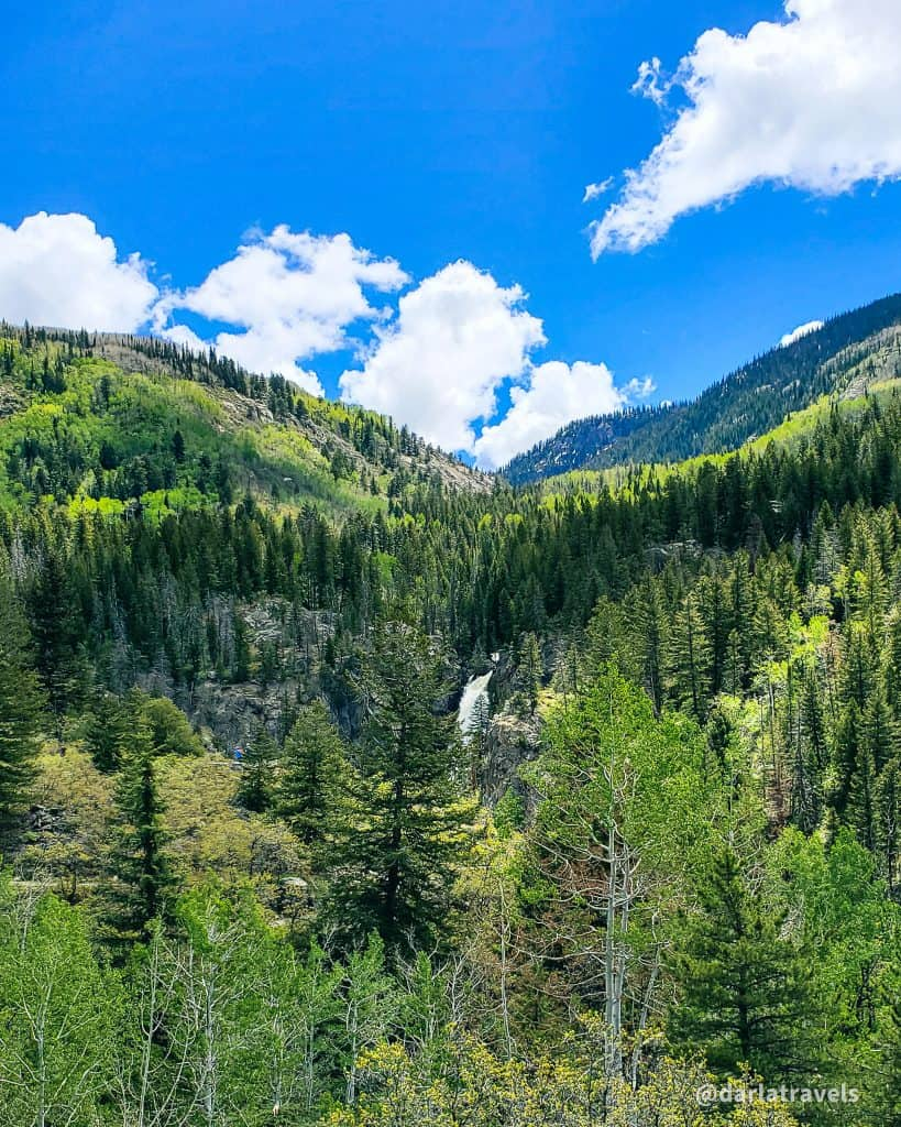 Fish Creek Falls, Routt county, Steamboat Springs, Colorado.  283-foot waterfall i n Routt National Forest