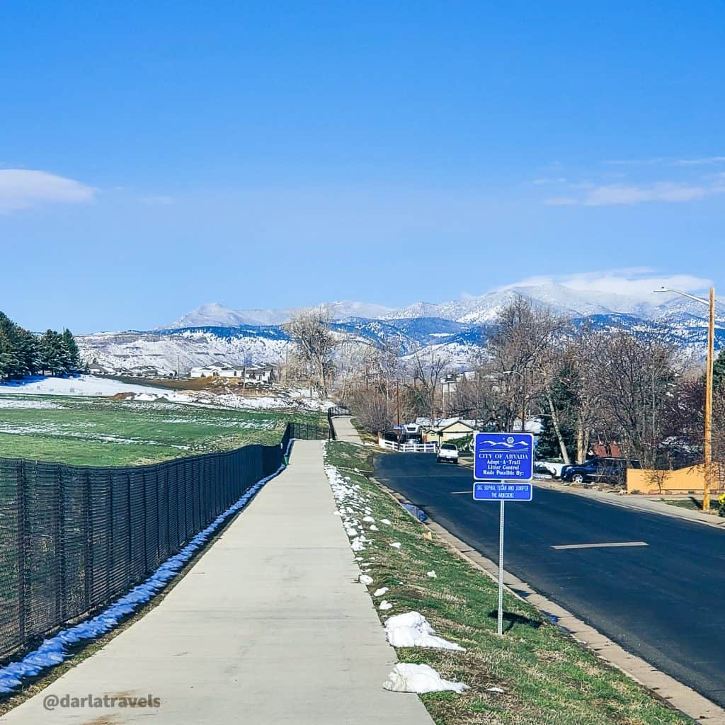 View to the east from the end of the Van Bibber Creek Trail in Arvada, Colorado, Jefferson County