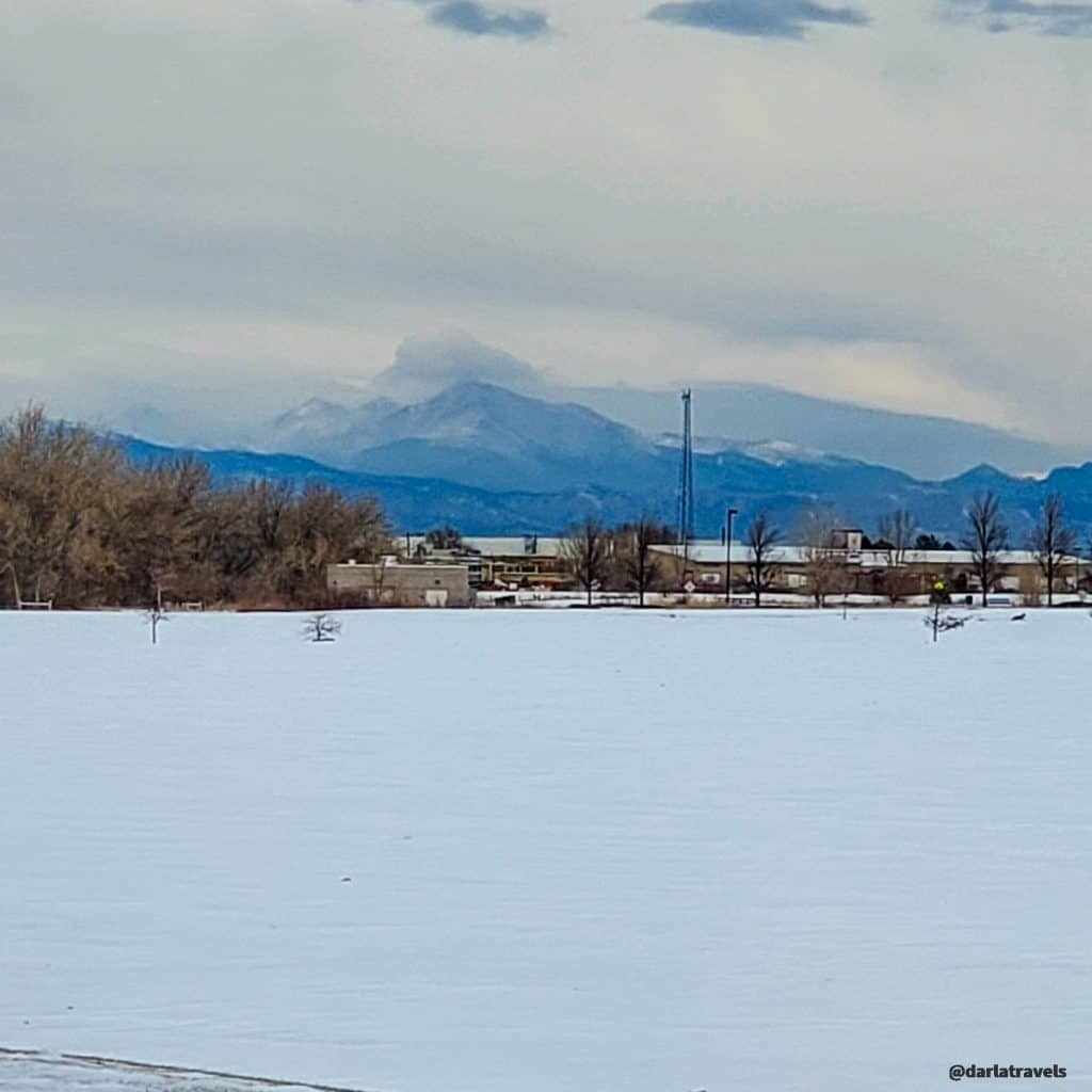 Mountain View from Aurora Sports Park on a winter day