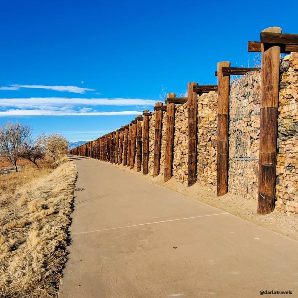 Sand Creek Regional Greenway Trail in Commerce City; retaining wall